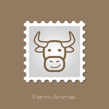 animal head: Bull stamp. Animal head vector illustration, eps 10 Illustration