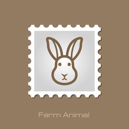 animal head: Rabbit stamp. Animal head vector illustration, eps 10 Illustration