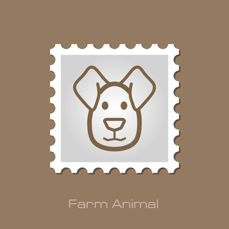 lick: Dog stamp. Animal head vector illustration, eps 10 Illustration