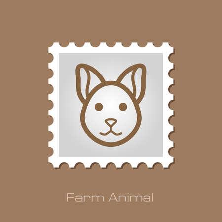 animal head: Cat stamp. Animal head vector illustration, eps 10