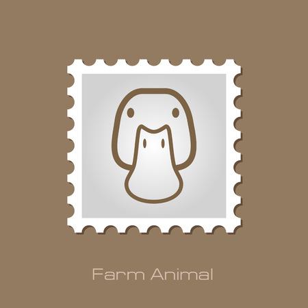 animal head: Duck stamp. Animal head vector illustration, eps 10
