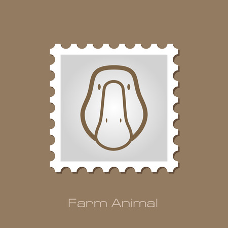animal head: Goose stamp. Animal head vector illustration, eps 10