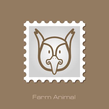 animal head: Pheasant stamp. Animal head vector illustration, eps 10 Illustration