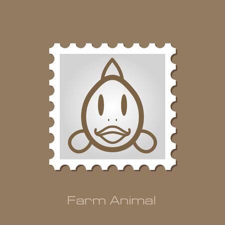animal head: Fish stamp. Animal head vector illustration, eps 10 Illustration