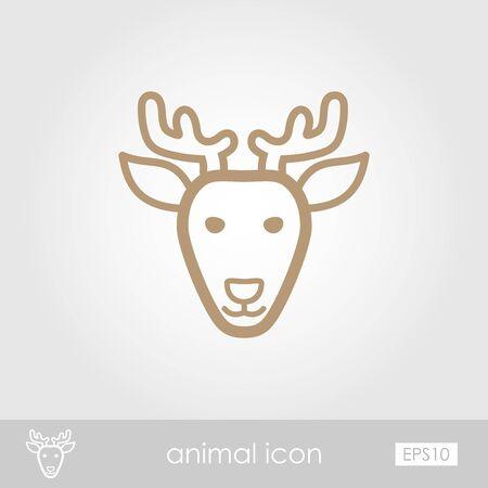 animal head: Deer icon. Animal head vector illustration, eps 10 Illustration