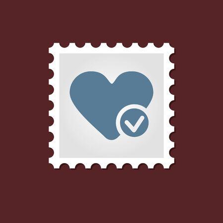 heart outline: Vector sign, medical stamp heart outline, eps 10 Illustration