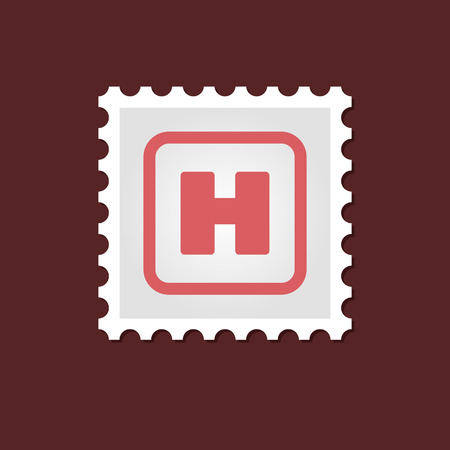 hospital sign: Vector sign, medical stamp Hospital sign outline, eps 10 Illustration