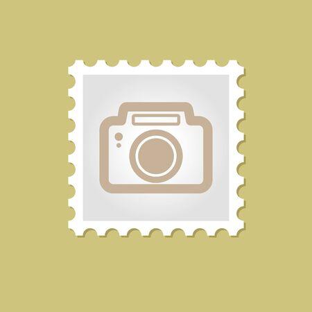 poststempel: Fotokamera Vektor-Stempel Umriss, eps 10