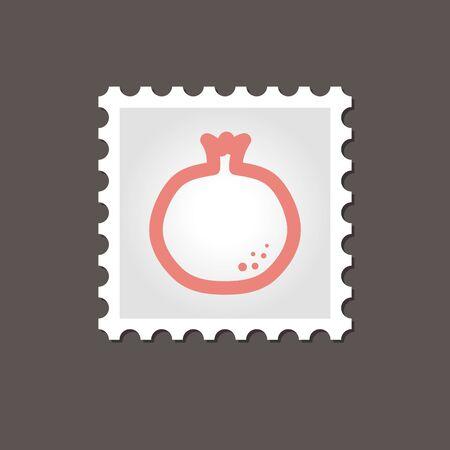 garnet: Garnet stamp. Outline vector illustration