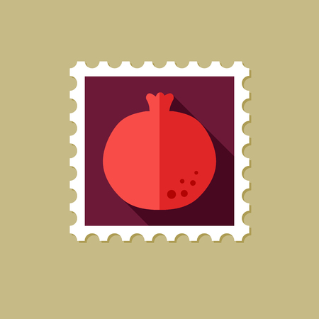 garnet: Garnet flat stamp with long shadow, eps 10