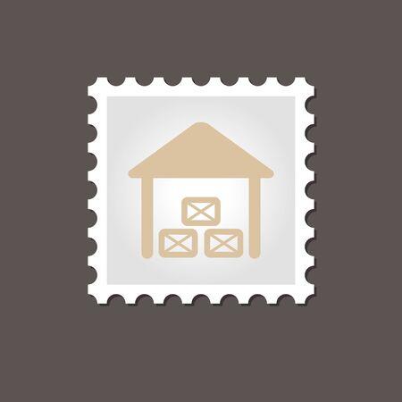 granary: Shed stamp. Outline vector illustration, eps 10