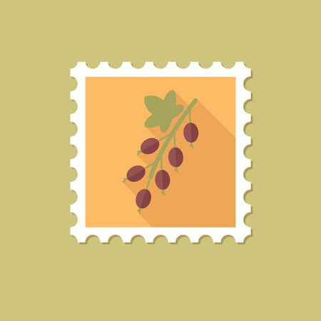 currant: Currant flat stamp with long shadow, eps 10 Illustration