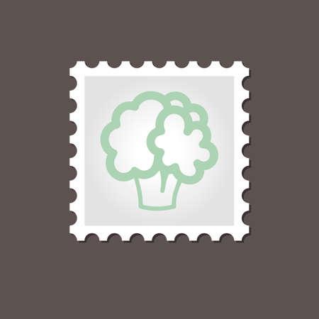 cauliflower: Cauliflower stamp. Outline vector illustration, eps 10 Illustration