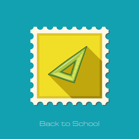 metric: Triangle Ruler flat stamp, vector illustration eps 10
