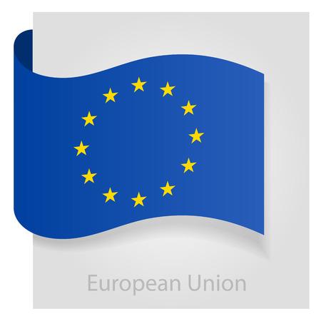 European Union flag, isolated vector illustration eps 10