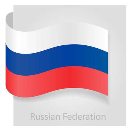 russian flag: Russian flag, isolated vector illustration eps 10