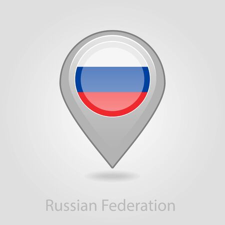 russian flag: Russian flag pin map icon, isolated vector illustration eps 10 Illustration