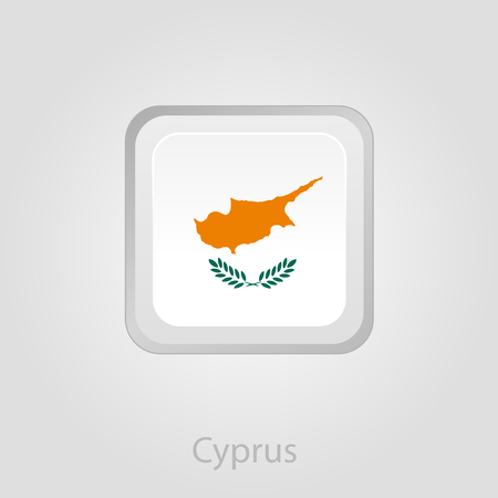 cyprus: Cyprus flag button, isolated vector illustration eps 10 Illustration