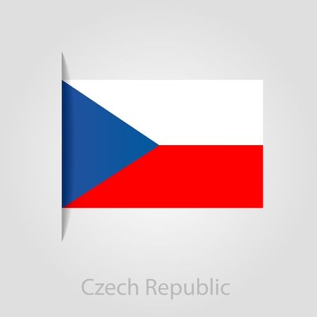 czech republic flag: Czech Republic flag, isolated vector illustration eps 10