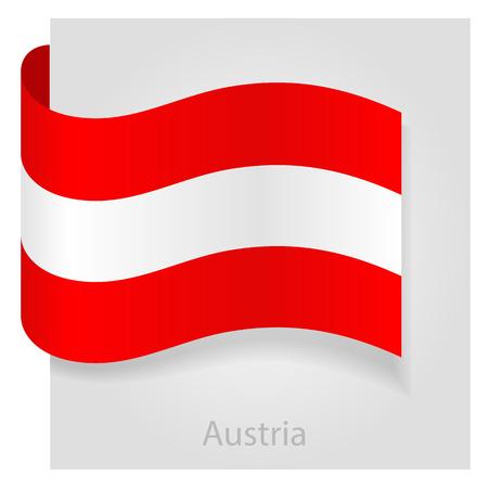 austria flag: Austria flag, isolated vector illustration eps 10