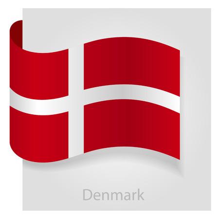 denmark flag: Denmark flag, isolated vector illustration eps 10