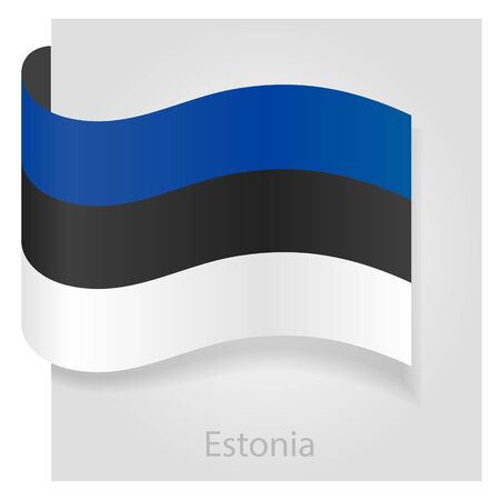 estonian: Estonian flag, isolated vector illustration eps 10 Illustration