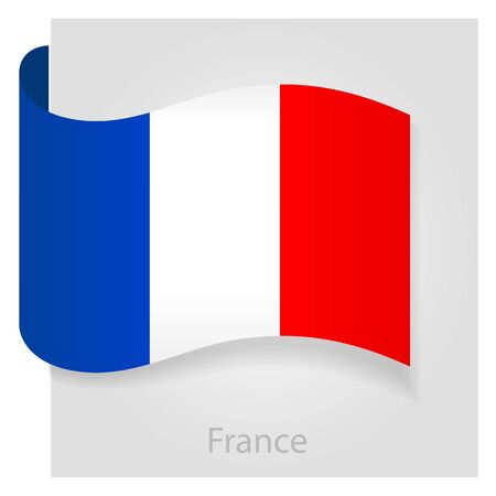 spangled: France flag, isolated vector illustration eps 10 Illustration