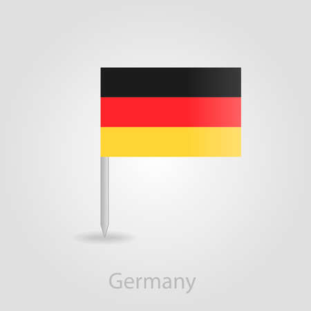 flag pin: Germany flag pin map icon, isolated vector illustration eps 10