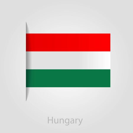 hungary: Hungary flag, isolated vector illustration eps 10