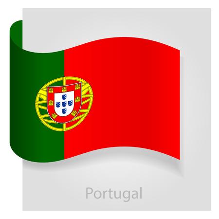 portugal flag: Portugal flag, isolated vector illustration eps 10