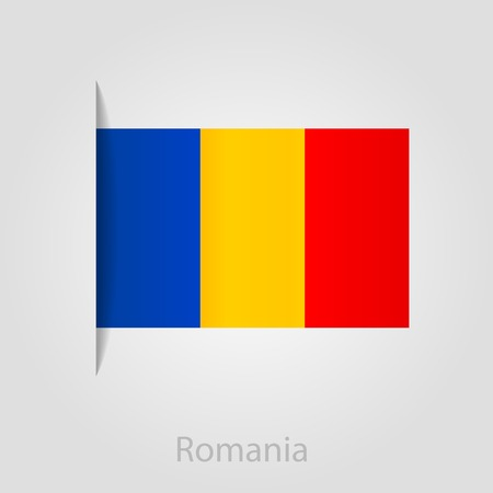 romanian: Romanian flag, isolated vector illustration eps 10