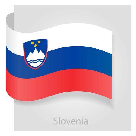 slovenian: Slovenian flag, isolated vector illustration eps 10