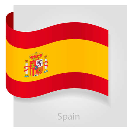 spanish flag: Spanish flag, isolated vector illustration eps 10