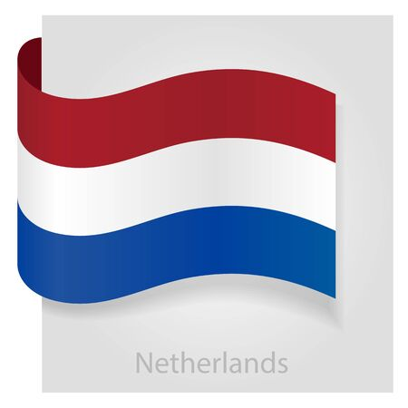 Netherlands flag, isolated vector illustration eps 10