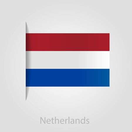 netherlandish: Netherlands flag, isolated vector illustration eps 10