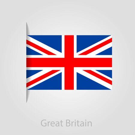 flag banner: United Kingdom flag, isolated vector illustration eps 10