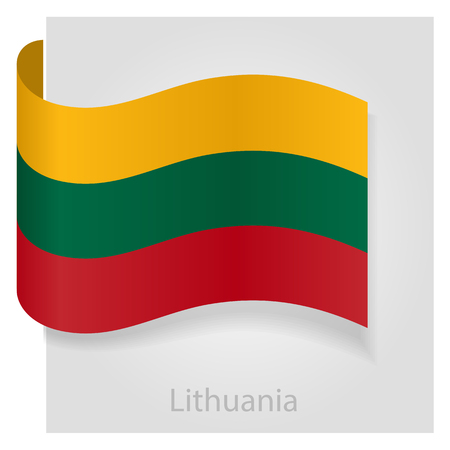 lithuanian: Lithuanian flag, isolated vector illustration eps 10 Illustration