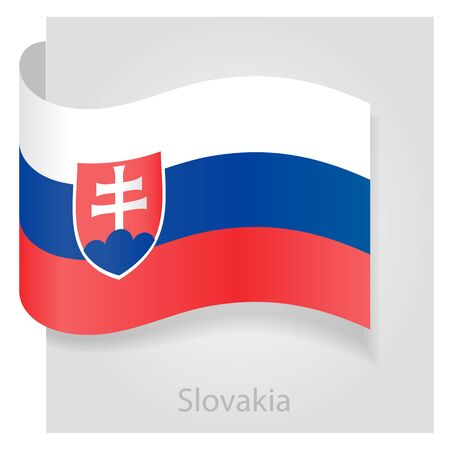 slovakia flag: Slovakia flag, isolated vector illustration eps 10