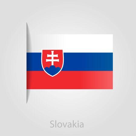 slovakia flag: Slovakia flag, isolated vector illustration eps 10