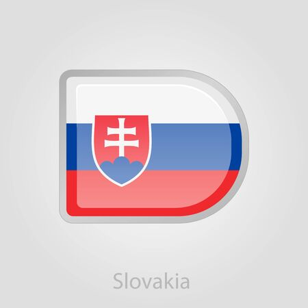 slovakia flag: Slovakia flag button, isolated vector illustration eps 10 Illustration