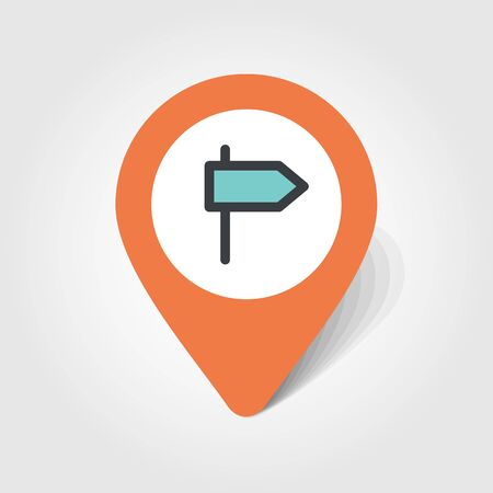 guidepost: Road Signpost map pin icon, map pointer, vector illustration eps 10