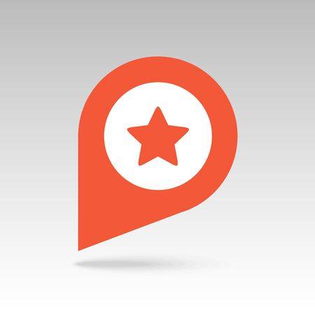 best location: Star favorite pin map icon. Map pointer. Map markers. Vector illustration EPS10 Illustration