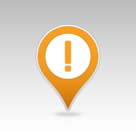 warning mark: Warning attention sign. Exclamation mark pin map icon. Map pointer. Map markers. Vector illustration EPS10