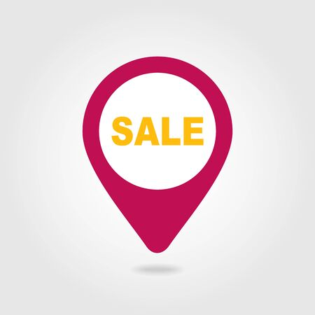 cost reduction: Sale pin map icon. Map pointer. Map markers. Special offer symbol. Vector illustration EPS10
