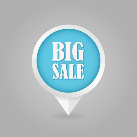 cost reduction: Big sale pin map icon. Map pointer. Map markers. Special offer symbol. Vector illustration EPS10
