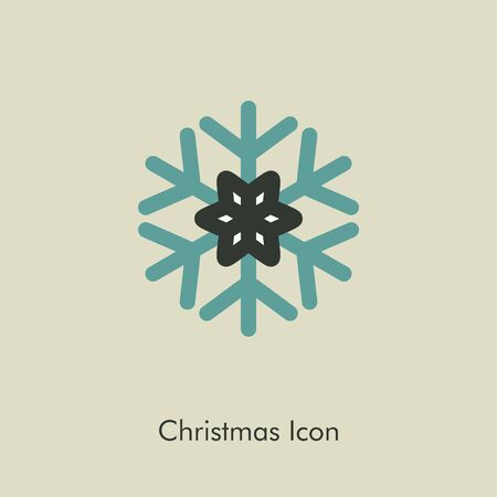lightweight ornaments: Modern Snowflake icon, vector illustration eps 10