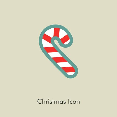 christmas candy: Christmas Candy Cane icon, vector illustration eps 10 Illustration