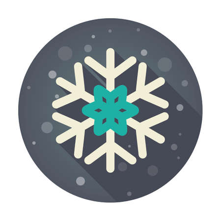 lightweight ornaments: Modern Snowflake flat icon, vector illustration eps 10