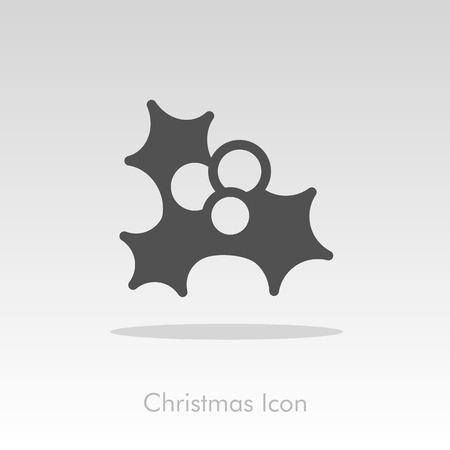 isolated: Christmas mistletoe icon. Illustration