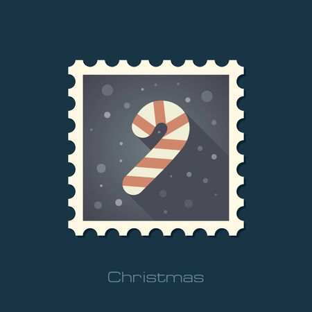candycane: Christmas Candy Cane flat stamp.